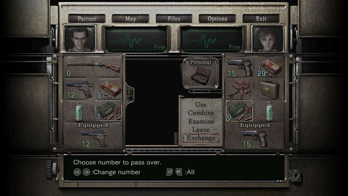 Resident Evil 0 Remaster Inventory Problem
