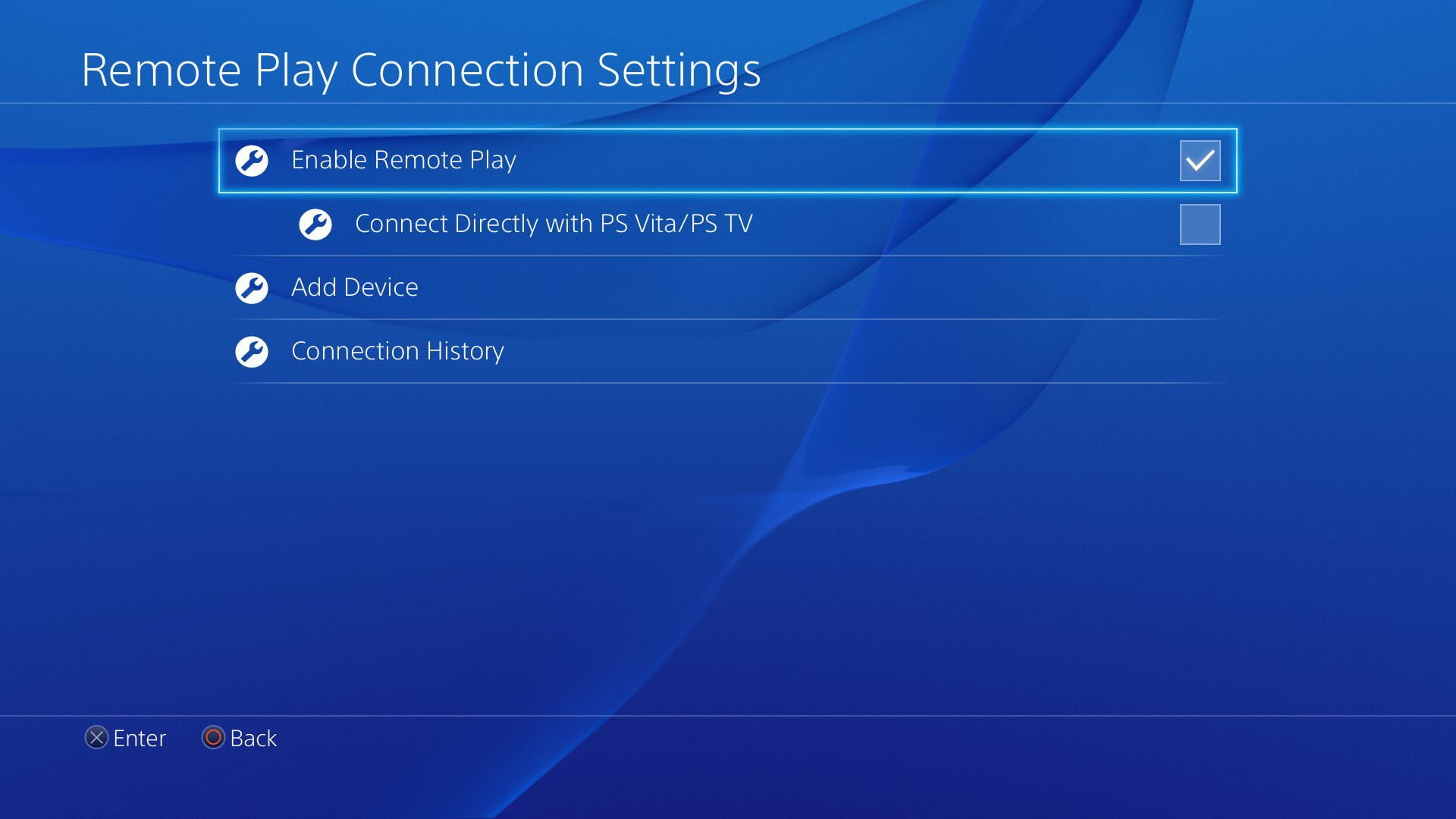 Playstation 4 Remote Play Settings