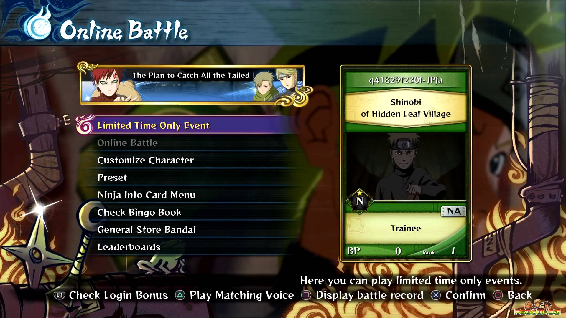 Naruto Shippuden: Ultimate Ninja Storm 4 Online Battle