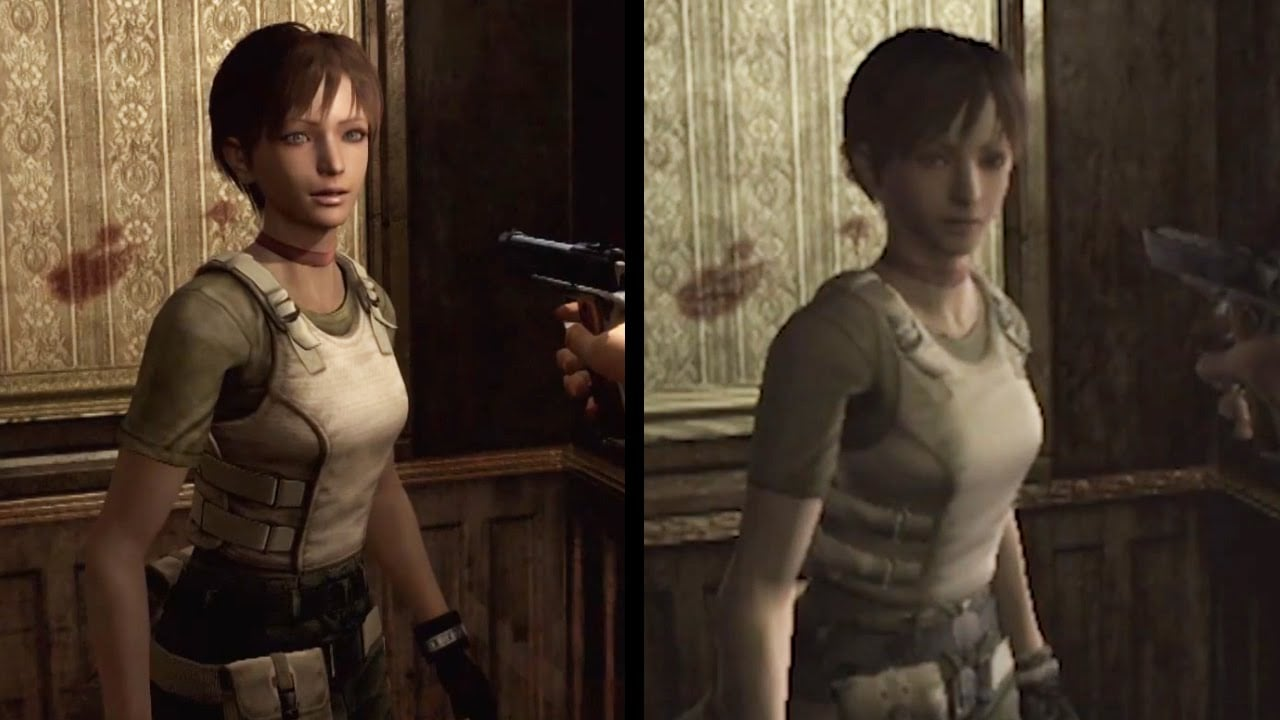 Resident Evil 0 Remaster Graphic Comparison
