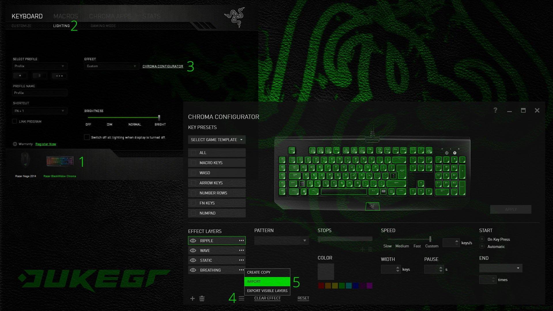 Razer Chroma Profile Collection ~ DukeGr